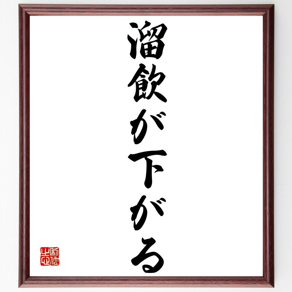 名言書道色紙『溜飲が下がる』Z4313
